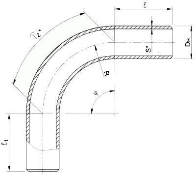 Отвод крутоизогнутый 45 гр ОСТ 108.321.16-82