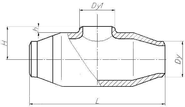 Тройник равнопроходной ОСТ 108-104-04-82